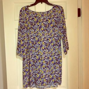 Old Navy Floral Zipper Dress
